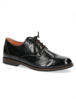 CAPRICE sieviešu melni oxford stila apavi