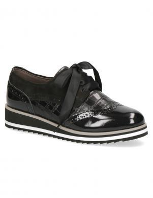 CAPRICE sieviešu melni zempapēža apavi