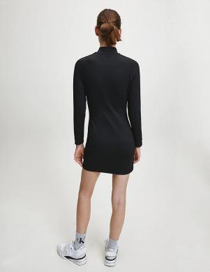 CALVIN KLEIN JEANS melna kleita ar augstu apkakli