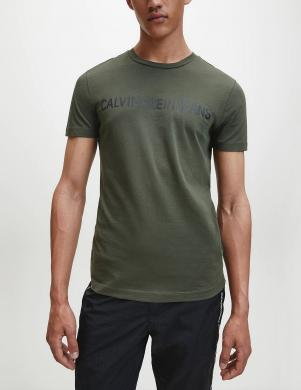 CALVIN KLEIN vīriešu zaļš krekls ar īsām piedurknēm