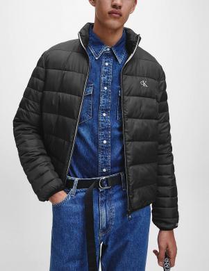CALVIN KLEIN vīriešu melna īsa dūnu jaka