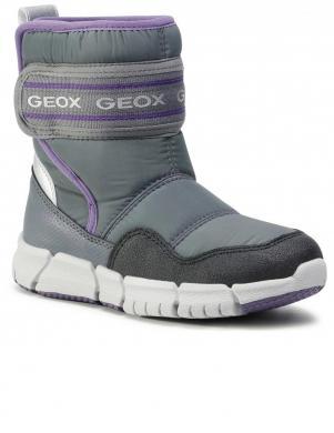 GEOX bērnu pelēki zābaki ar siltinājumu J Flexyper G.B ABX