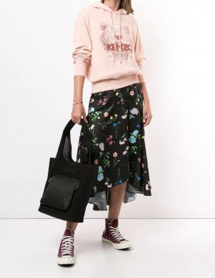 KENZO sieviešu rozā izšūts džemperis ar kapuci
