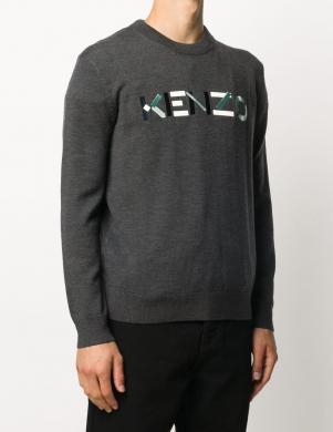 KENZO vīriešu pelēks vilnas džemperis