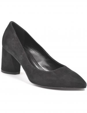 LA CONTE sieviešu melni ādas klasiski apavi
