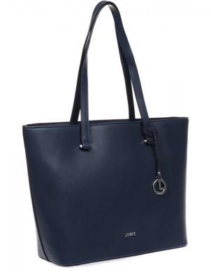 L.CREDI sieviešu tumši zila soma Fillipa Shopper