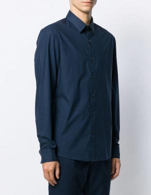 MICHAEL KORS vīriešu tumši zils krekls ar garām piedurknēm