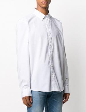 MICHAEL KORS vīriešu balts krekls ar mk rakstu