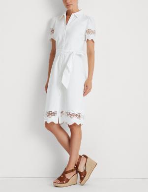 POLO RALPH LAUREN balta vidējā garuma kleita