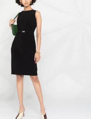 POLO RALPH LAUREN melna klasiska stila kleita ar jostu