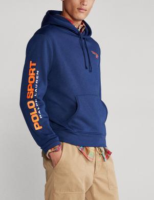 POLO RALPH LAUREN vīriešu zils džemperis ar kapuci