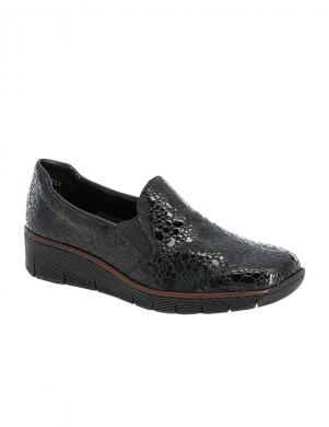 RIEKER sieviešu melni lakoti ikdienas apavi