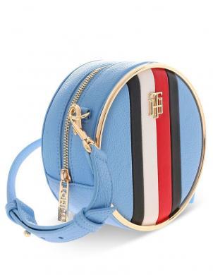 TOMMY HILFIGER sieviešu gaiši zila apaļa soma pār plecu