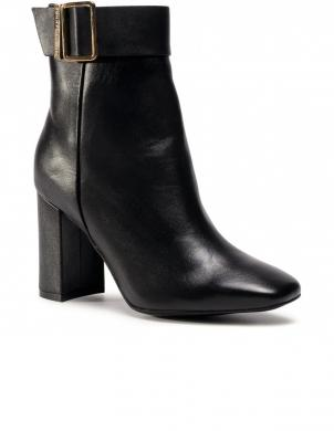 TOMMY HILFIGER sieviešu melni zābaki BASIC SQUARE TOE BOOT BLACK