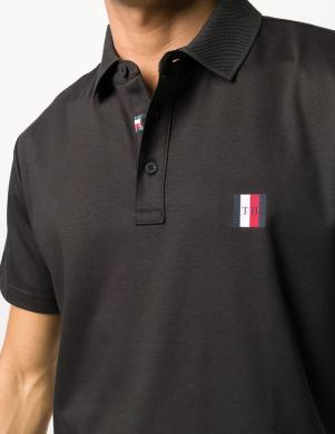 TOMMY HILFIGER vīriešu melns polo tipa krekls