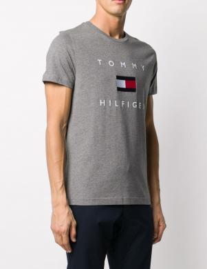 TOMMY HILFIGER vīriešu pelēks krekls ar logotipu