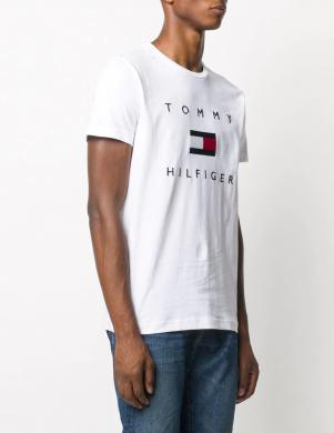 TOMMY HILFIGER vīriešu balts krekls ar logotipu