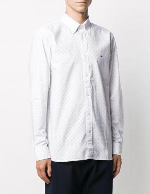 TOMMY HILFIGER vīriešu balts krekls ar garām piedurknēm