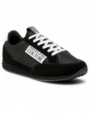 VERSACE JEANS COUTURE vīriešu melni ikdienas apavi