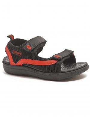 CROSBY bērnu melnas - sarkanas sandales
