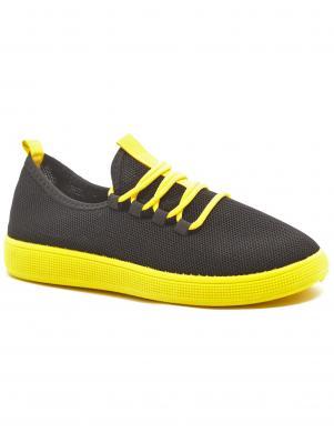 CROSBY sieviešu melni - dzelteni ikdienas apavi