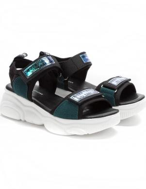 KEDDO bērnu zaļas - melnas sandales