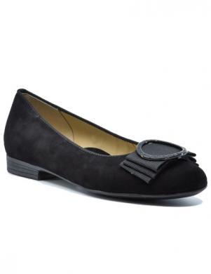 ARA sieviešu melni ādas balerīnas apavi SARDINIA-HIGHSOFT