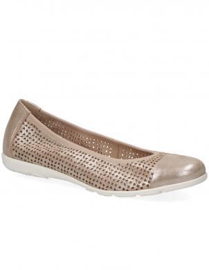 CAPRICE sieviešu gaiši brūni spīdīgi balerīnas apavi