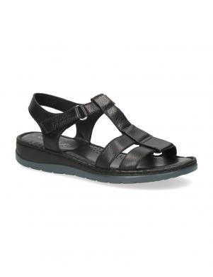CAPRICE sieviešu melnas ādas sandales