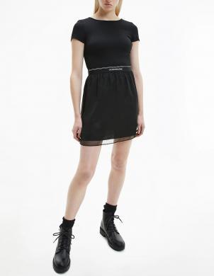 CALVIN KLEIN JEANS sieviešu melna kleita