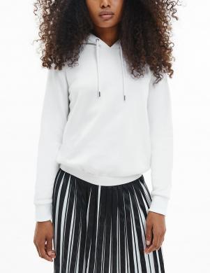 CALVIN KLEIN sieviešu balts džemperis ar kapuci