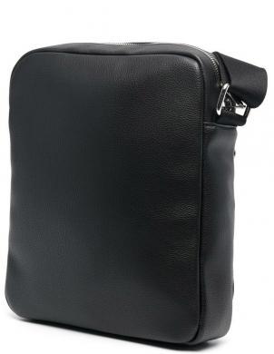 CALVIN KLEIN vīriešu melna soma pār plecu FLAT PACK