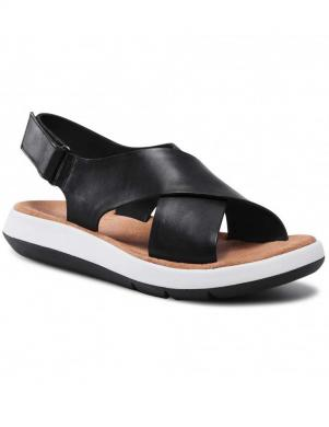 CLARKS sieviešu melnas sandales Jemsa Cross