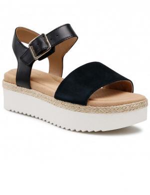 CLARKS sieviešu melnas sandales-espadrilles Lana Shore