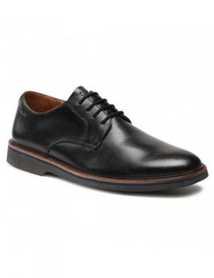 CLARKS vīriešu melni klasiski apavi Malwood Plain