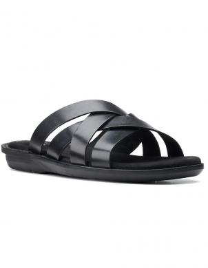 CLARKS vīriešu melnas sandales Ellison Weave