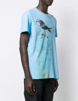 DSQUARED2 vīriešu gaiši zils krekls ar īsām piedurknēm