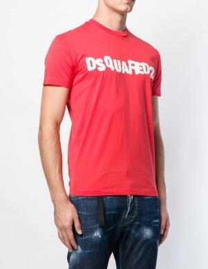 DSQUARED2 vīriešu sarkans krekls ar īsām piedurknēm