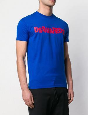 DSQUARED2 vīriešu zils krekls ar īsām piedurknēm