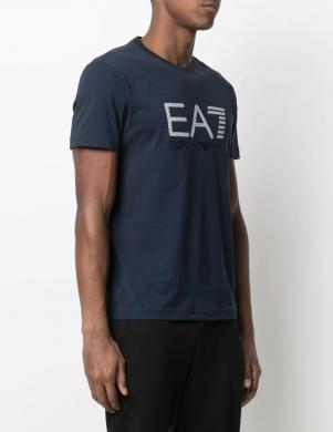 EA7 vīriešu tumši zils krekls ar īsām piedurknēm