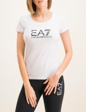EA7 sieviešu balts krekls ar īsām piedurknēm