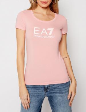 EA7 sieviešu gaiši rozā krekls ar īsām piedurknēm