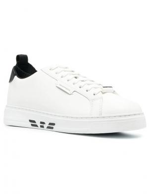 EMPORIO ARMANI vīriešu balti ikdienas apavi