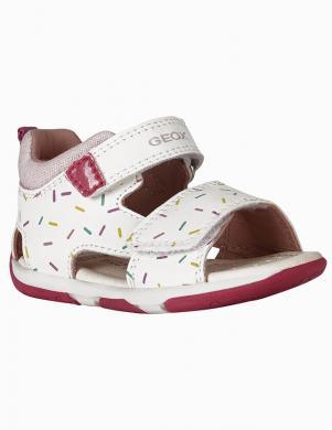 GEOX bērnu rozā-baltas sandales B SANDAL TAPUZ GIRL