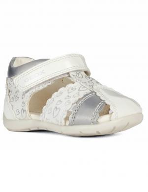 GEOX bērnu baltas sandales meitenēm B ELTHAN GIRL