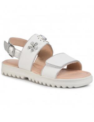 GEOX bērnu baltas sandales SANDAL CORALIE GIR