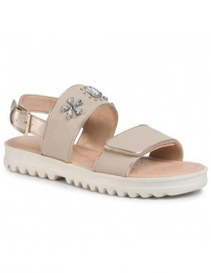 GEOX bērnu krēmīgas krāsas sandales SANDAL CORALIE GIR