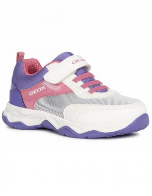 GEOX bērnu balti ikdienas apavi meitenēm CALCO GIRL