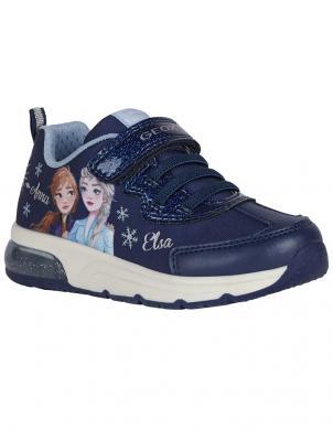 GEOX bērnu zili ikdienas apavi SPACECLUB GIRL