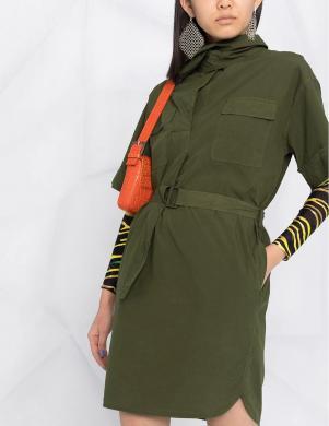 KENZO tumši zaļa kleita